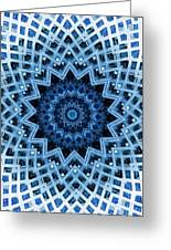 Abstract Blue 30 Greeting Card