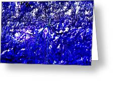 Abstract Blue Greeting Card