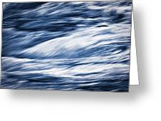 Abstract Blue Background Wild River Greeting Card