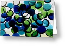 Abstract Blue Green II Greeting Card