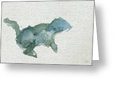 Abstract Blue Squirrel Greeting Card