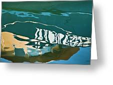 Abstract Boat Reflection Greeting Card by Dave Gordon
