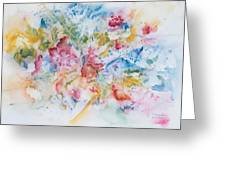 Abstract Bouquet Greeting Card
