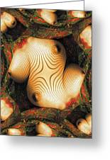 Abstract Breasts By Mb Greeting Card