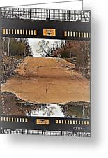 Abstract Bridge Over Road Greeting Card
