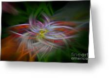 Abstract Brilliant Fibers  Greeting Card