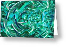 Abstract Brutality The Vortex Greeting Card