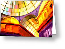 Abstract Cathedral Color Wheel Greeting Card