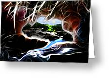 Abstract-cavern Greeting Card