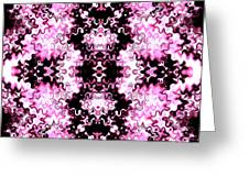 Pink And Black Design  Greeting Card