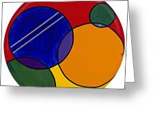 Abstract Circle 3 Greeting Card