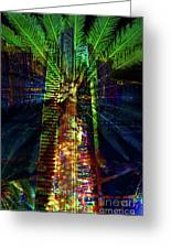 Abstract City In Green Greeting Card