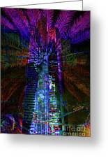 Abstract City In Purple Greeting Card