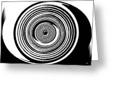 Abstract Clock Spring Greeting Card