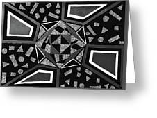 Abstract Cobblestone Blk/wht. Greeting Card