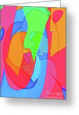 Abstract Color Block  Greeting Card