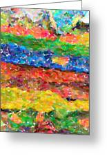 Abstract Color Combination Series - No 8 Greeting Card