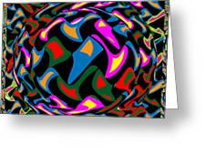 Abstract Colorful Art Exploded View Of Whirlwind At Its Builds On Dry Leaves Greeting Card