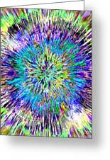 Abstract Colorful Tie Dye Greeting Card