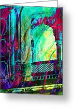 Abstract Colorful Window Balcony Exotic Travel India Rajasthan 1a Greeting Card