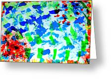 Abstract Colors. Greeting Card