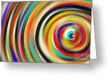 abstract Colurfull Rings Greeting Card