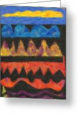 Abstract Combination Of Colors No 4 Greeting Card