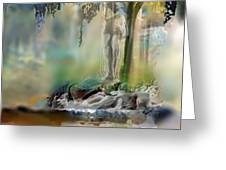 Abstract Contemporary Art Titled Humanity And Natures Gift By Todd Krasovetz  Greeting Card