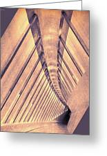Abstract Corridor Architecture Greeting Card