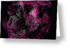 Abstract Crystal - Cg Render Greeting Card