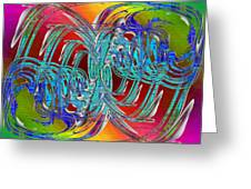 Abstract Cubed 280 Greeting Card