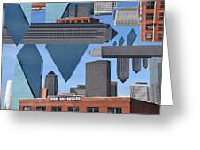 Abstract Dallas Greeting Card