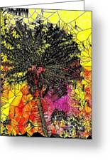 Abstract Dandelion Stained Glass Greeting Card