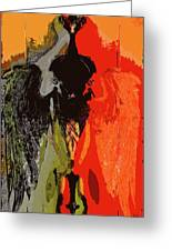 Abstract Dark Angel Greeting Card
