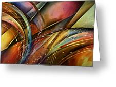 Abstract Design 111 Greeting Card by Michael Lang
