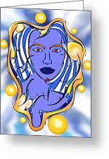 Angeonilium V2 - Blue Beauty Greeting Card