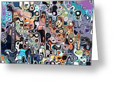 Abstract Digital Doodle 2 Greeting Card