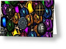 Abstract Digitial Eggs Greeting Card