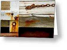 Abstract Dock Greeting Card