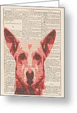 Abstract Dog On Dictionary Greeting Card