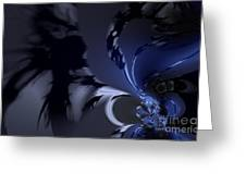 Abstract Dragon Wings Greeting Card