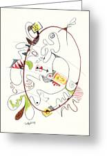 Abstract Drawing Fifty-four Greeting Card