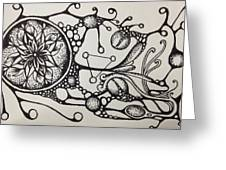 Abstract Drawing Greeting Card