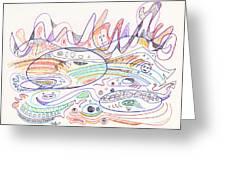 Abstract Drawing Nineteen Greeting Card