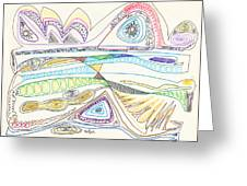 Abstract Drawing Seventeen Greeting Card
