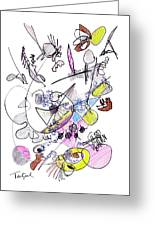Abstract Drawing Seventy-two Greeting Card