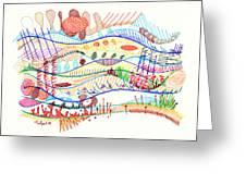 Abstract Drawing Three Greeting Card