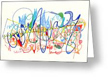 Abstract Drawing Two Greeting Card