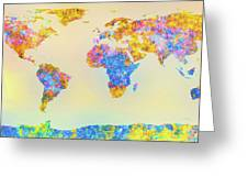 Abstract Earth Map 2 Greeting Card by Bob Orsillo