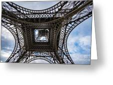 Abstract Eiffel Tower Looking Up Greeting Card